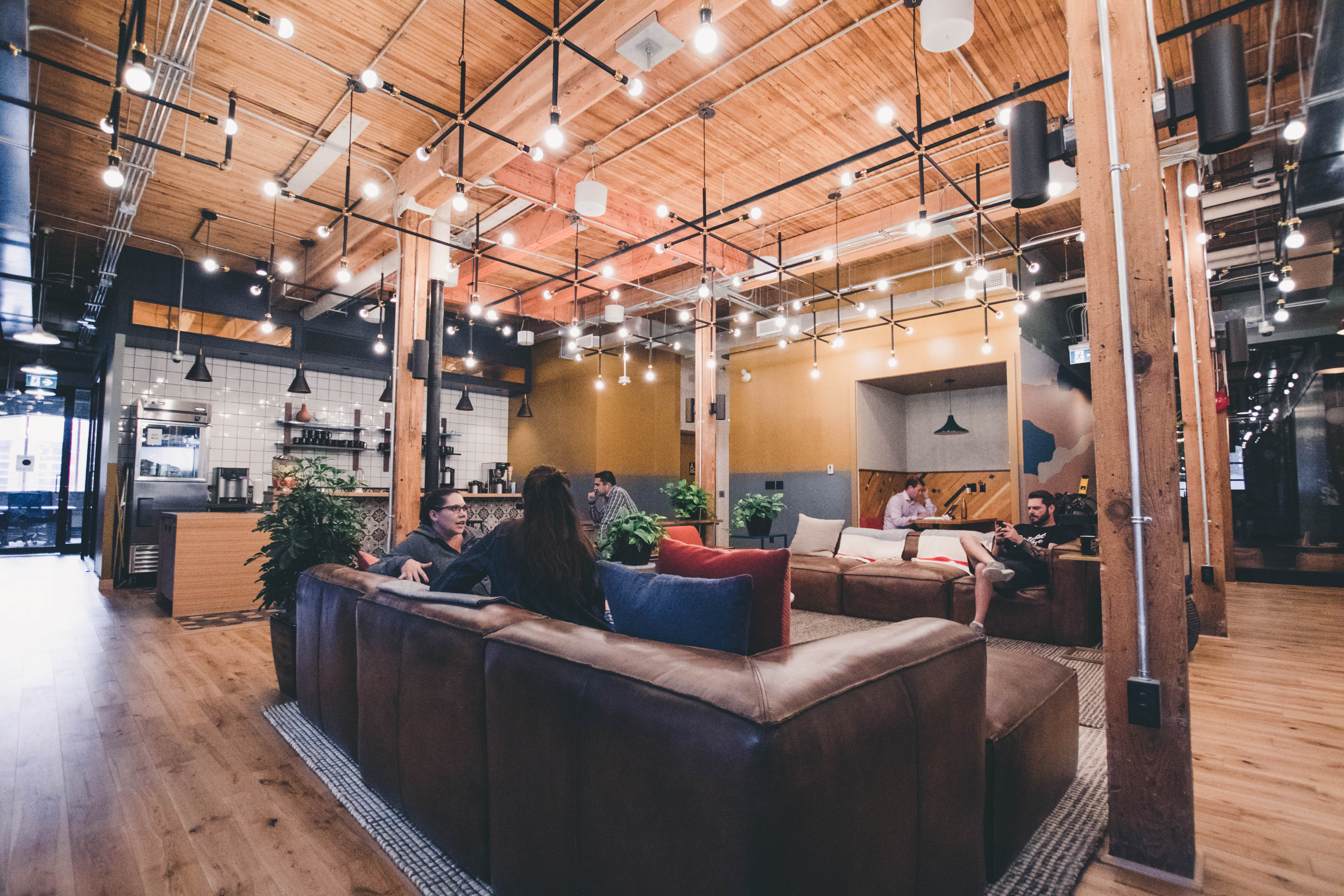 People working at the WeWork Richmond location