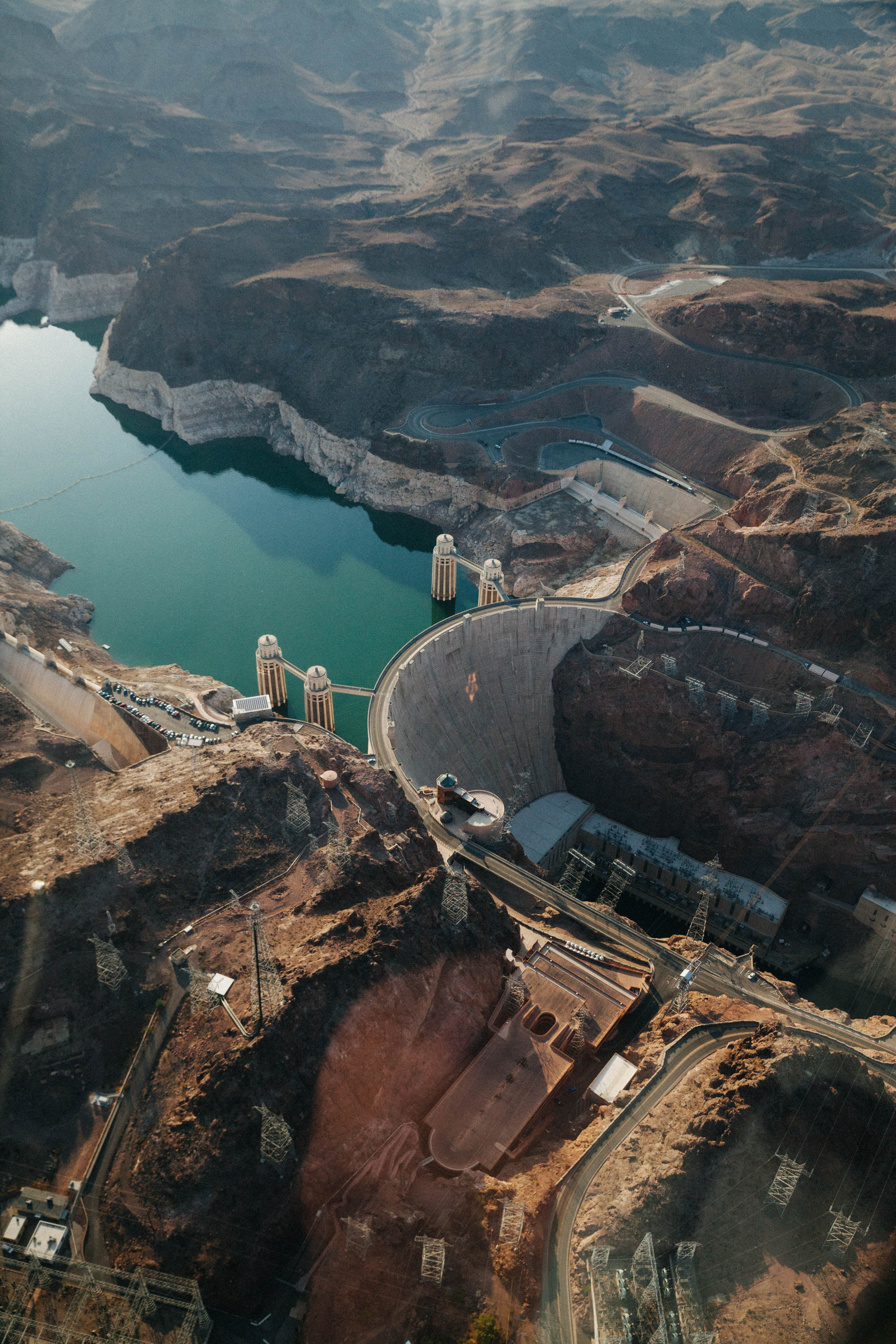 aerial view photography of Hoover Dam