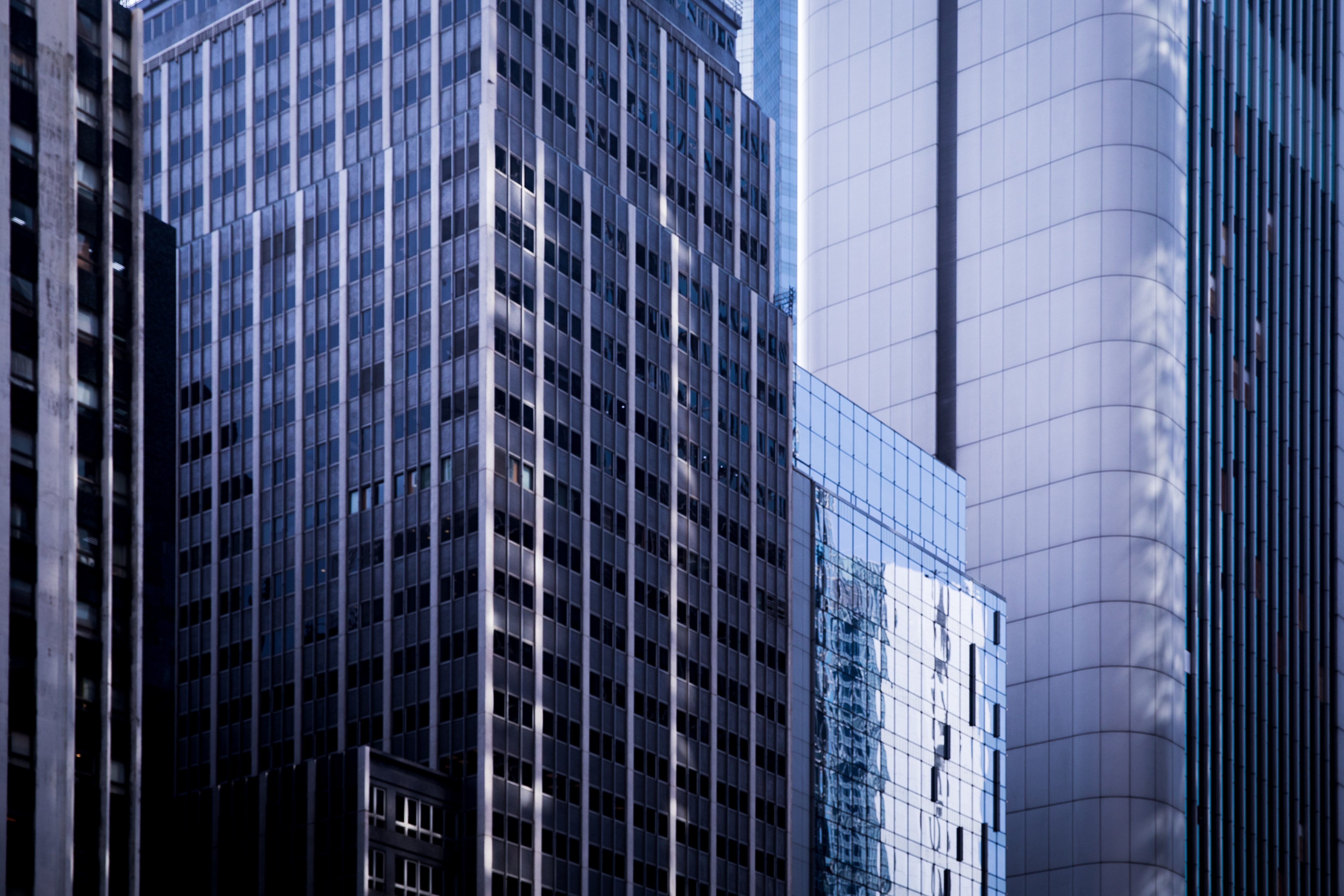 glass high-rise buildings