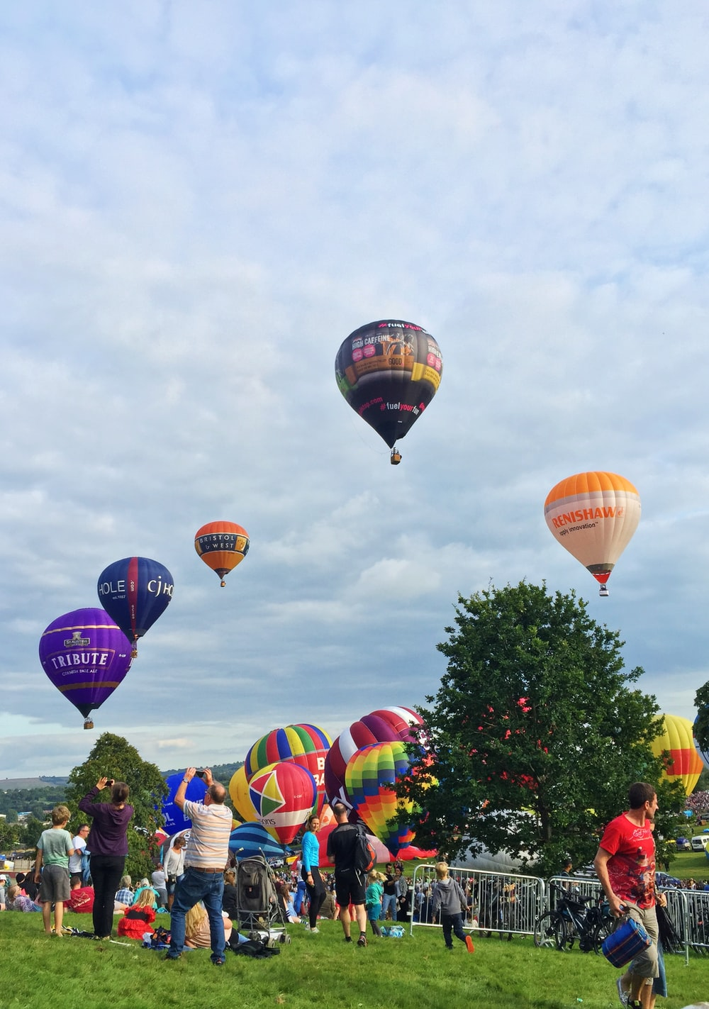 hot air balloon display