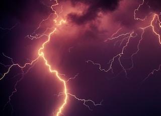 time lapse photo of lightning