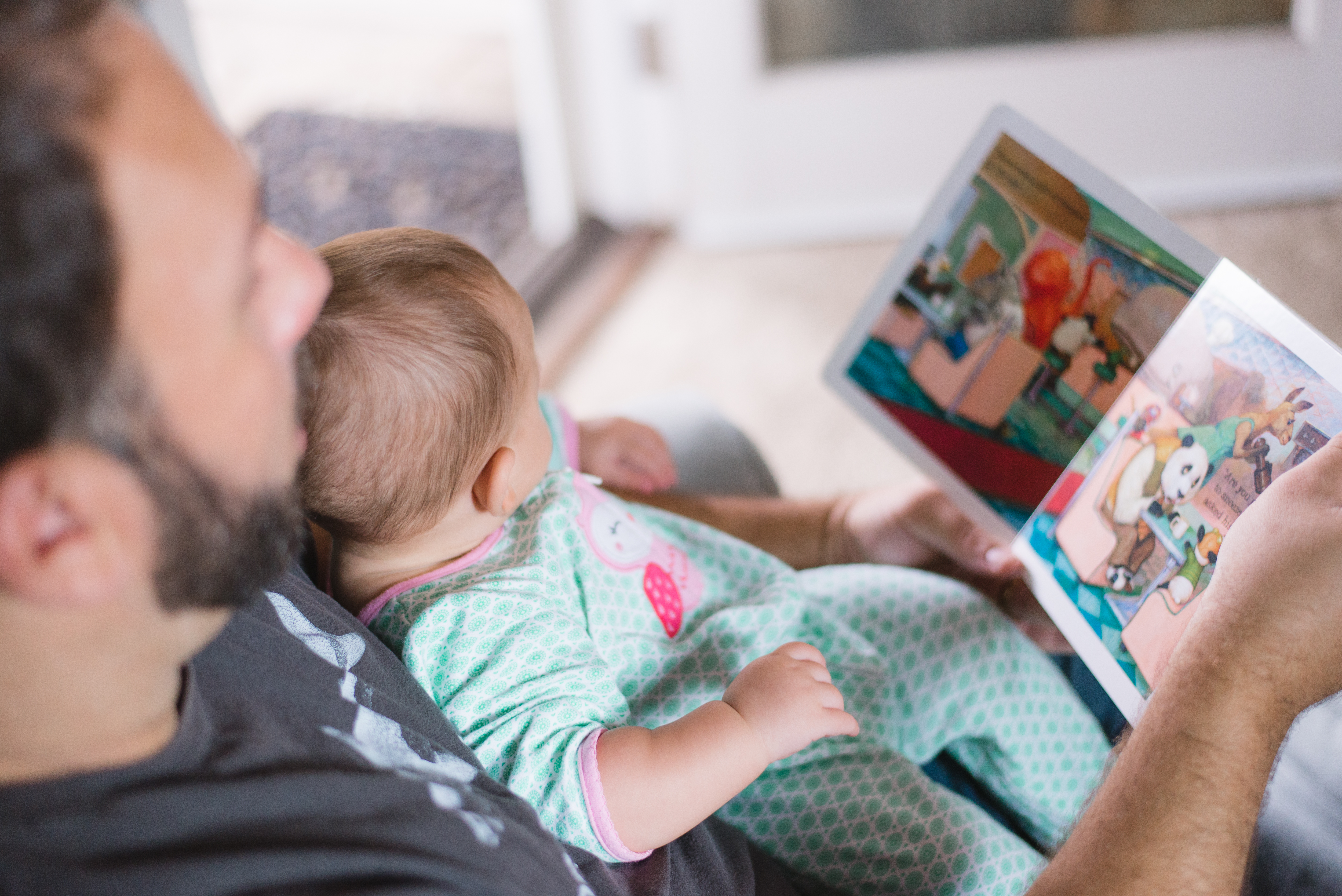 Reading Baby Play