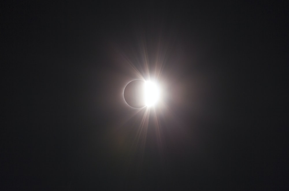 low light photography of eclipse