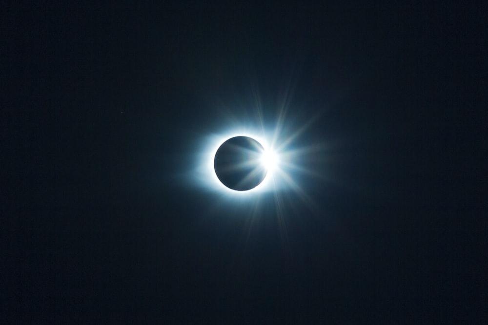 digital wallpaper of eclipse