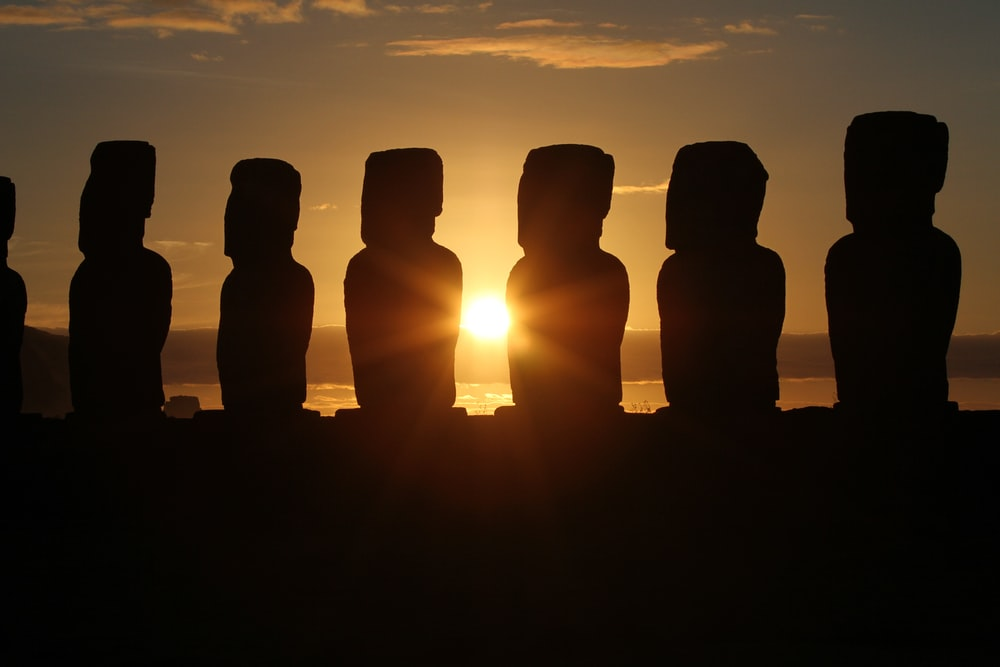 silhouette of stonehenge at dusk