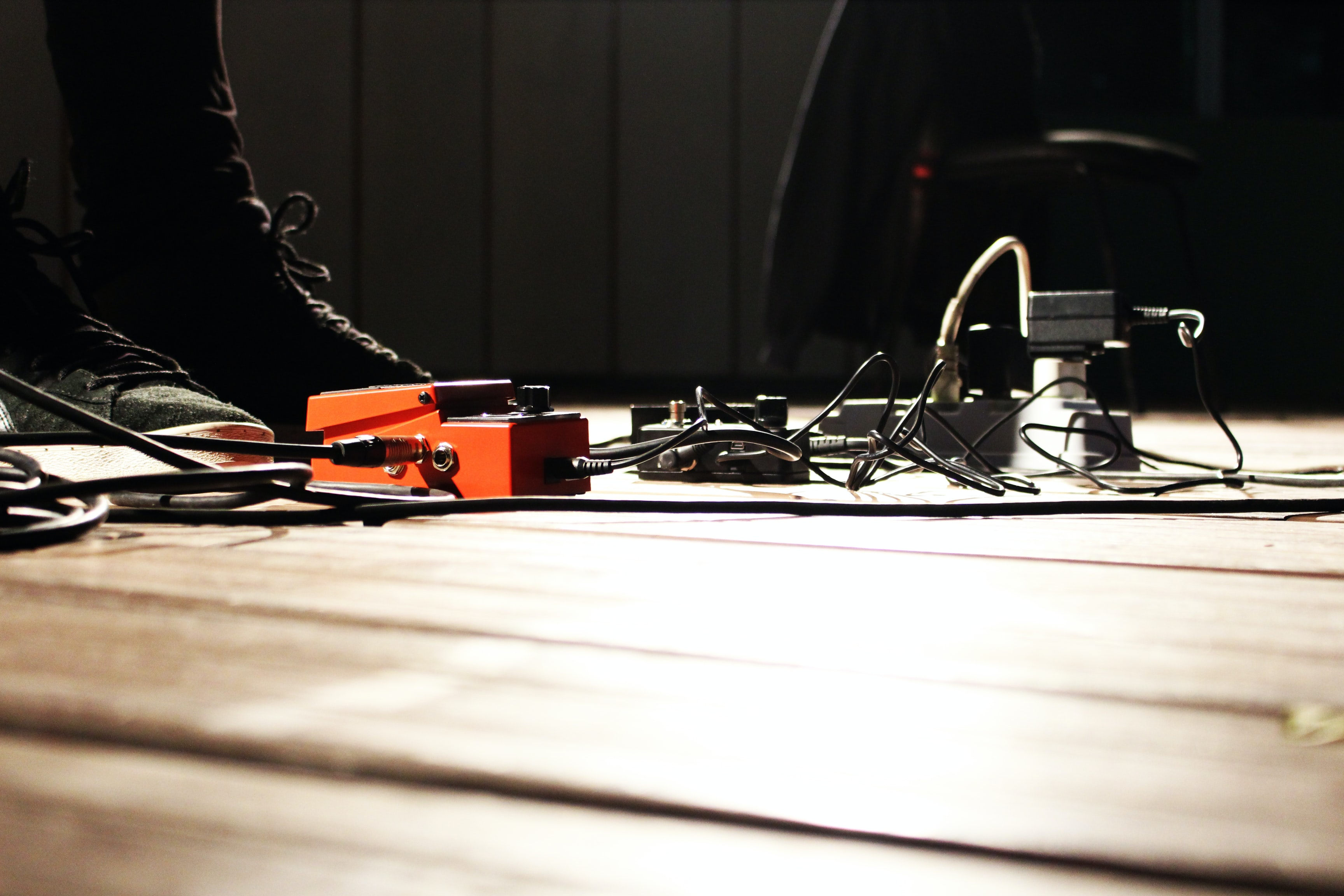 photo of distortion and power strip on floor