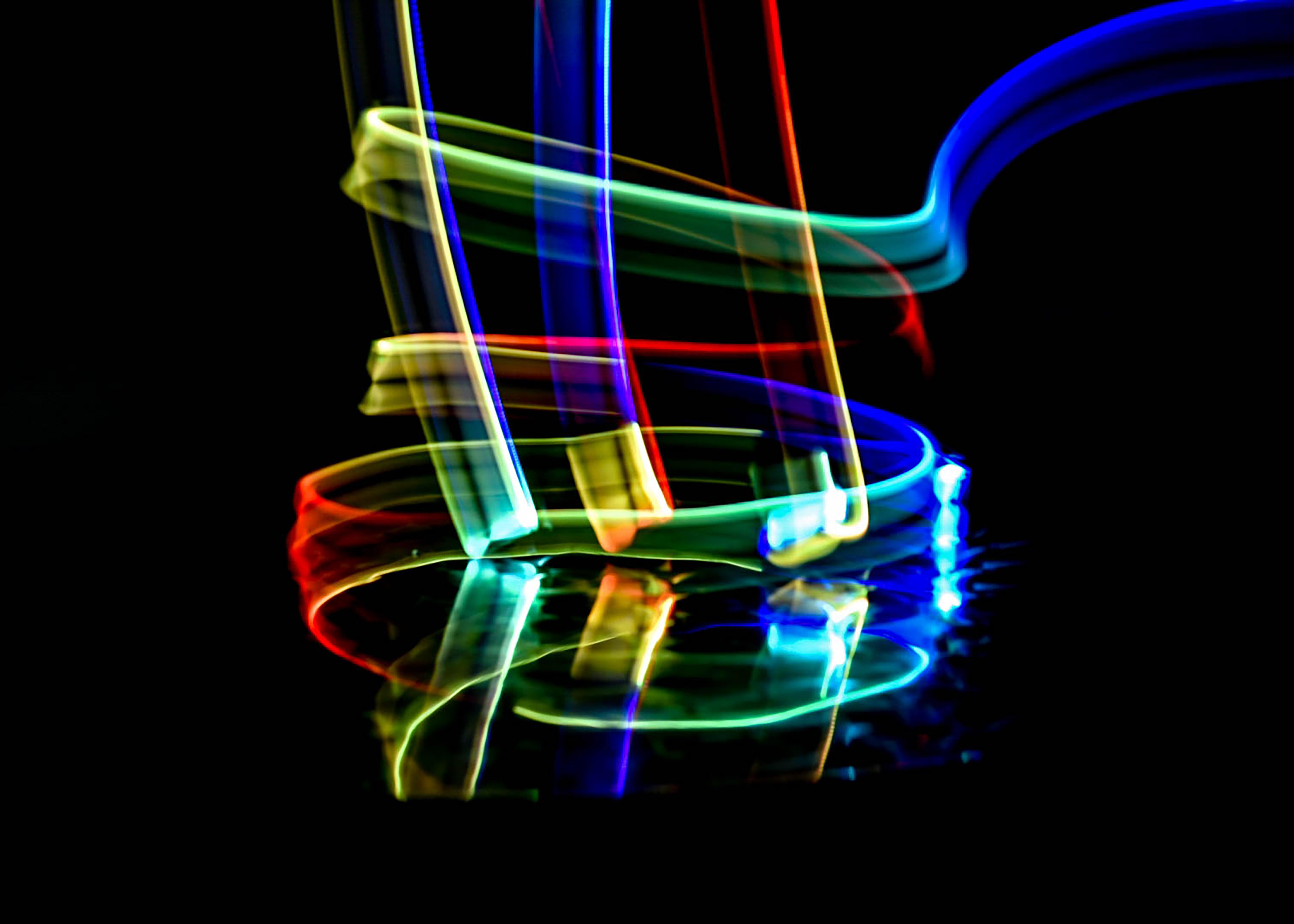 multicolored lights illustration