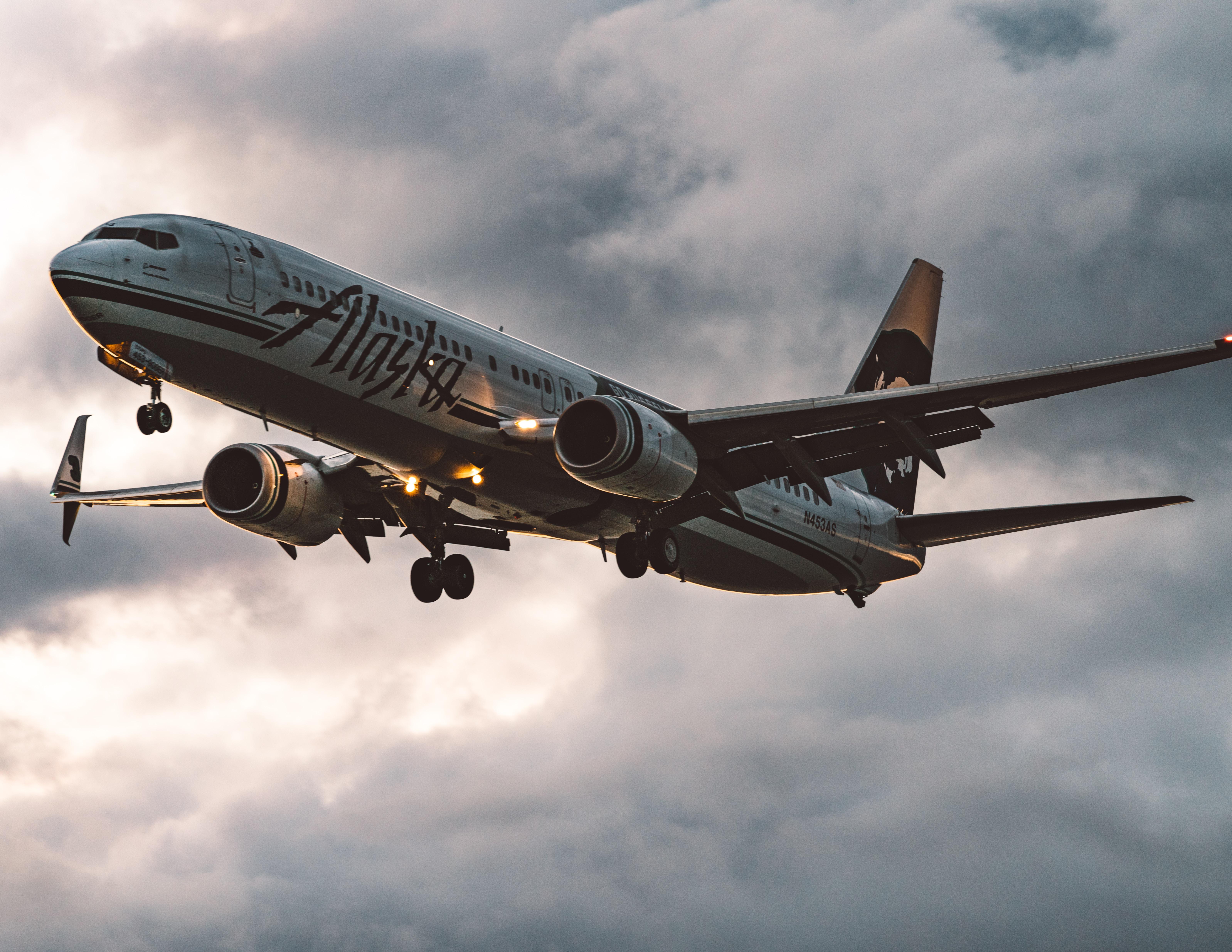 Alaska passenger plane about to land