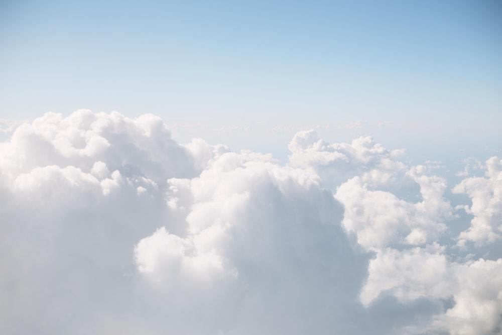 white sky photography
