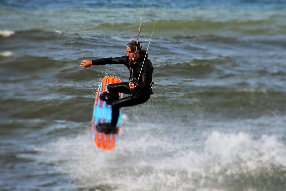 person riding wakeboard