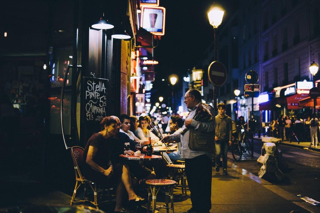 Serving flowers in Paris
