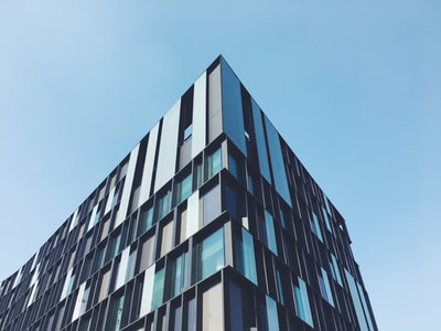 high-rise glass window building