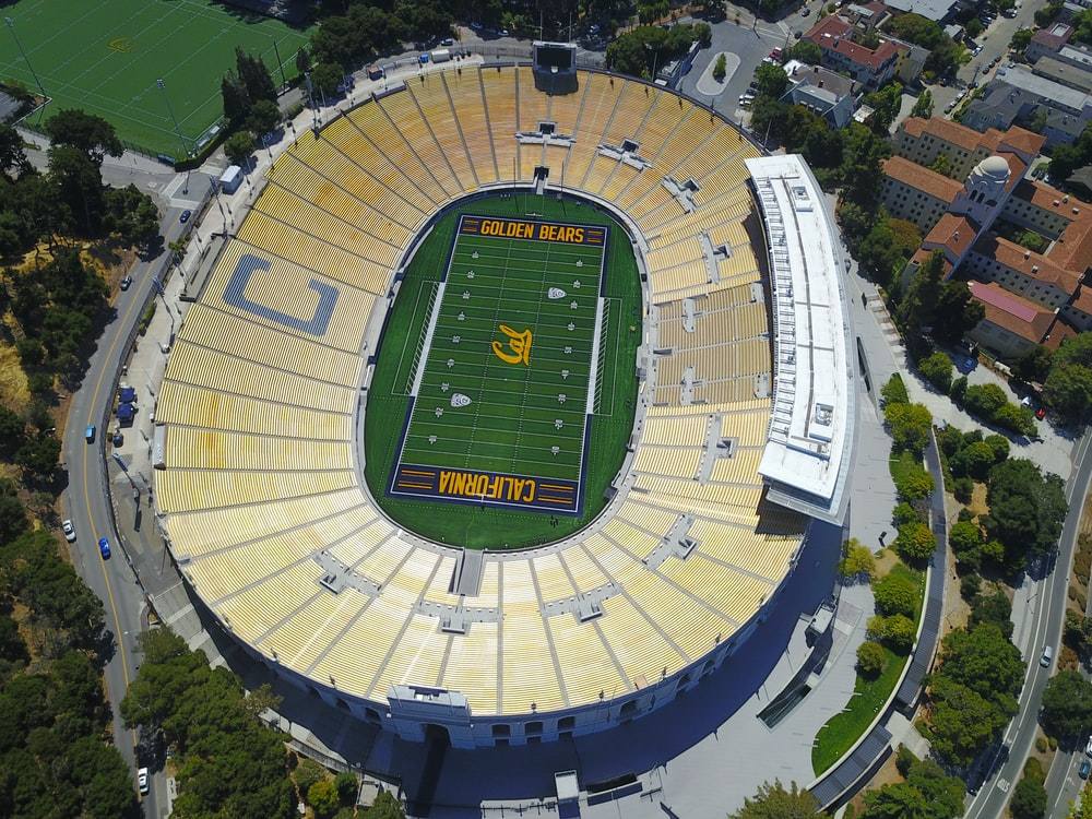 aerial photography of California Golden Bears stadium