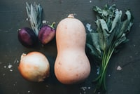 assorted veggies on gray surface