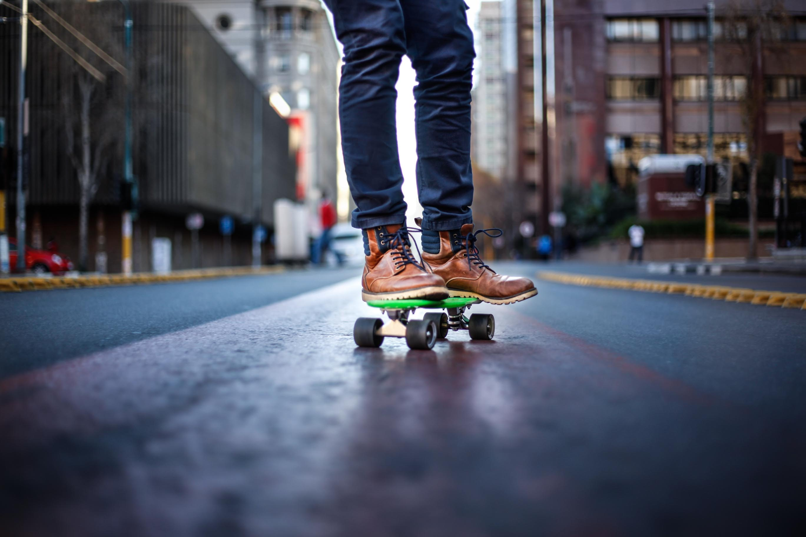 person riding skateboard
