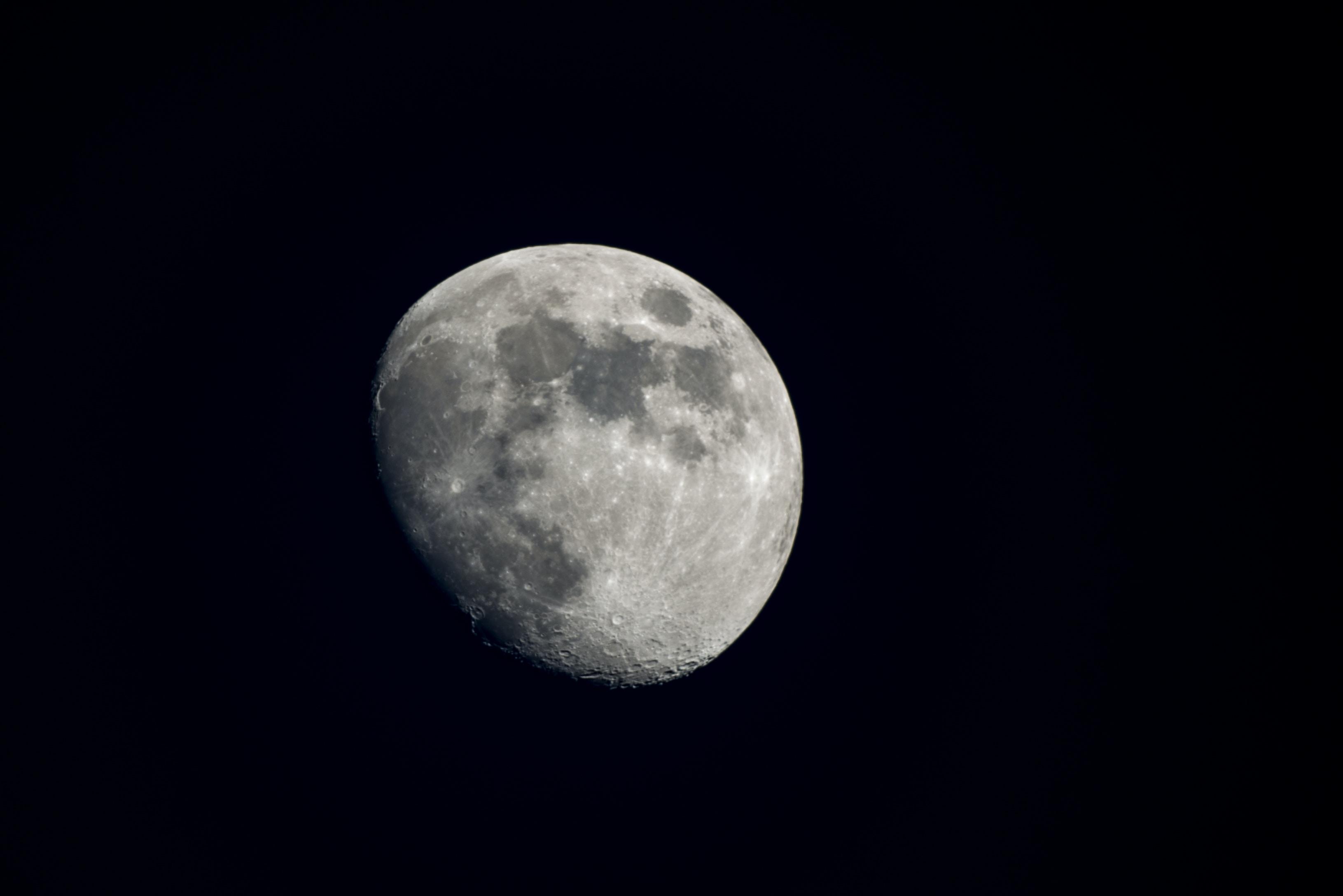 quarter moon in night sky