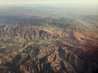 aerial view photography of brown mountains during daytime