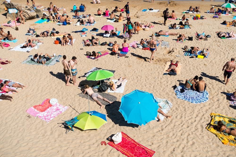 people on sand
