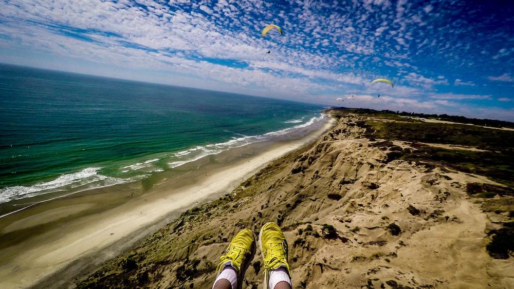 bird's eye view photography of seashore