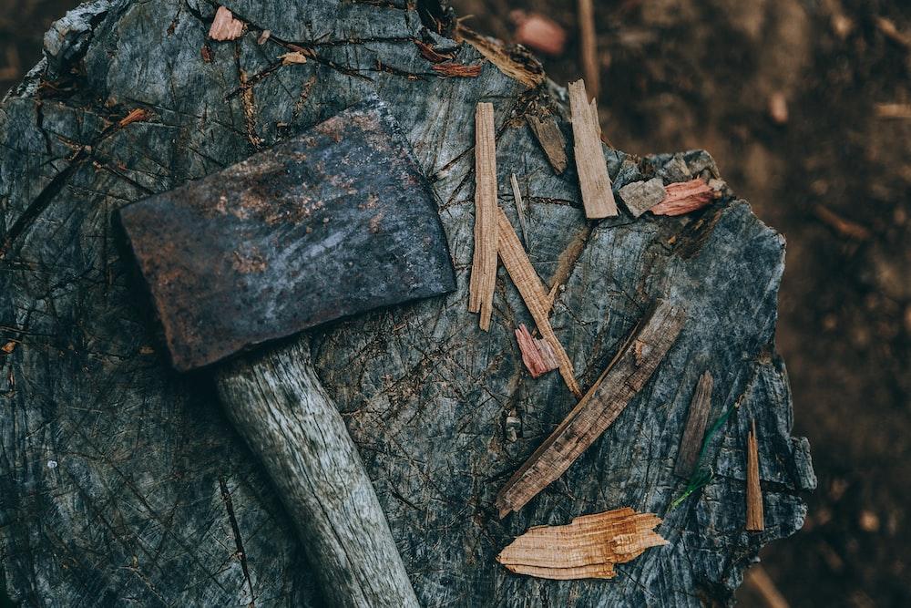 shallow focus photography of axe