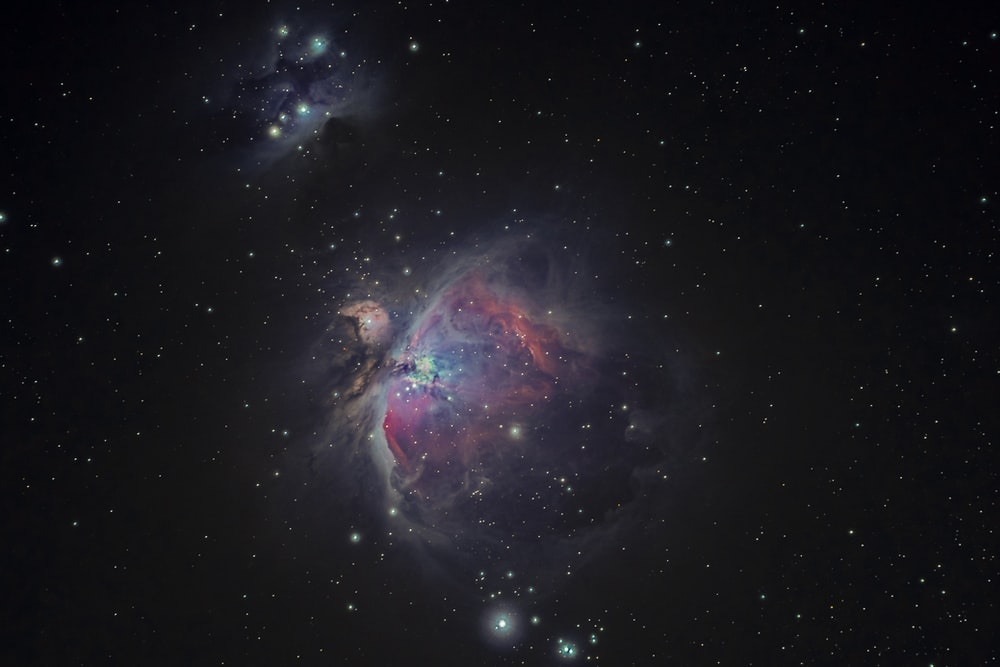 A colorful explosion in space.