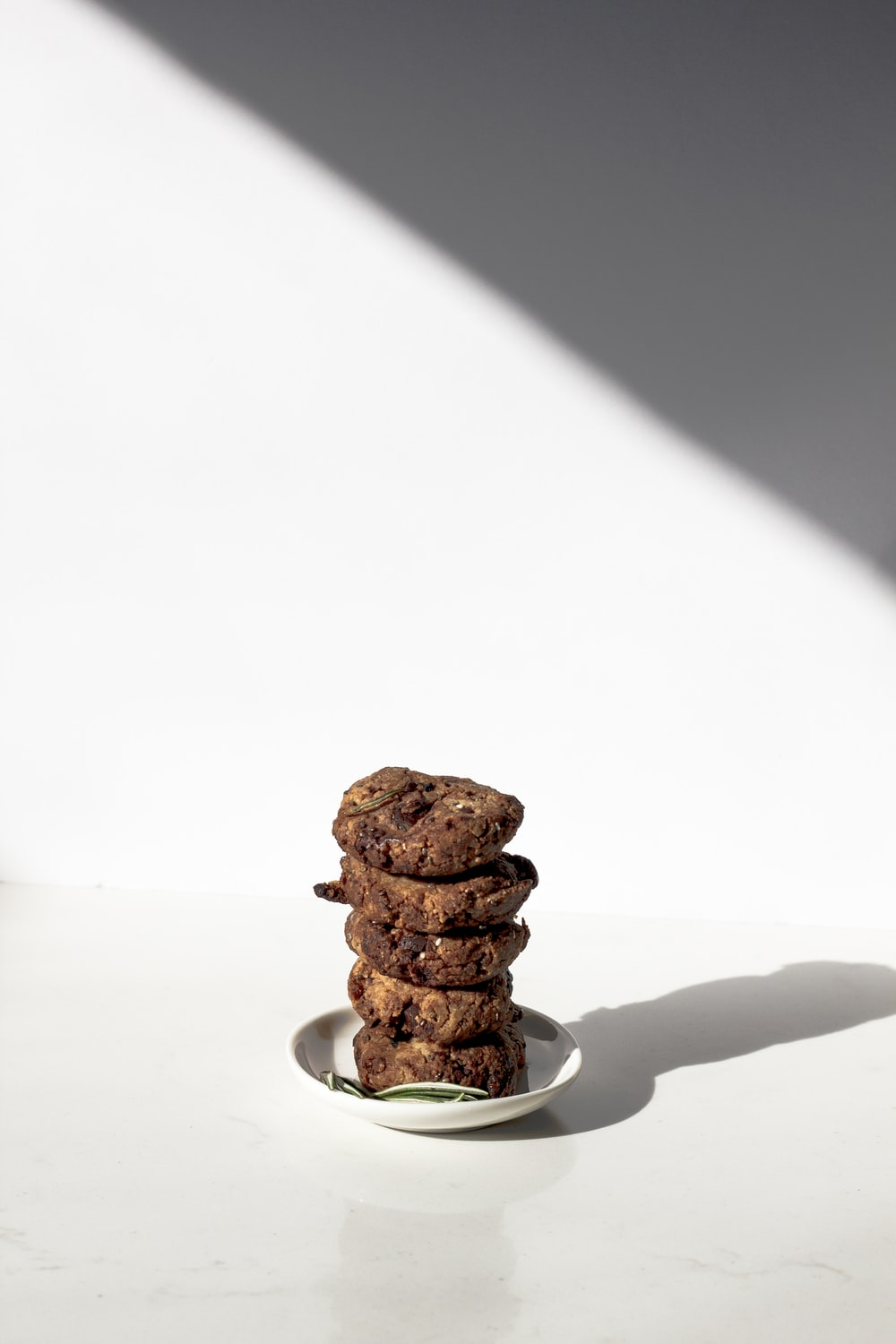 pile of cookies served on saucer