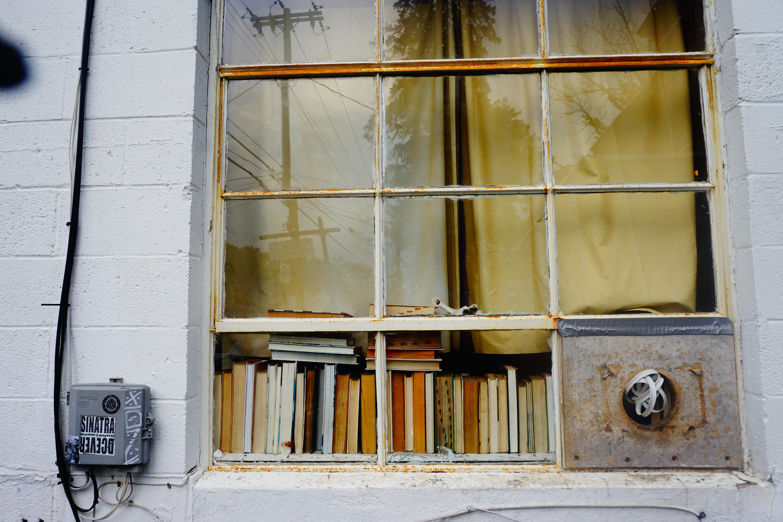 close-up photo of window