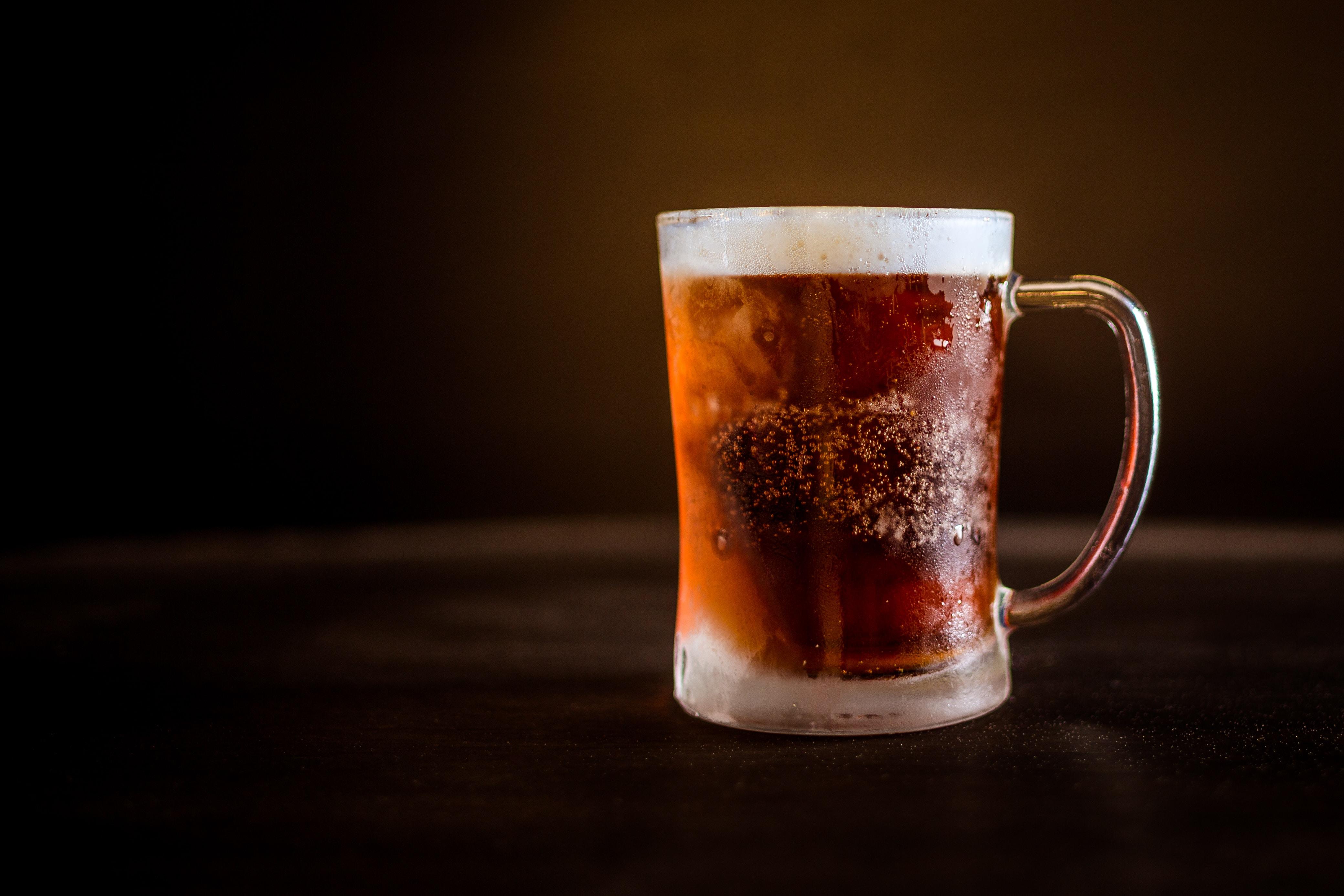 A nice cold glass mug of beer.