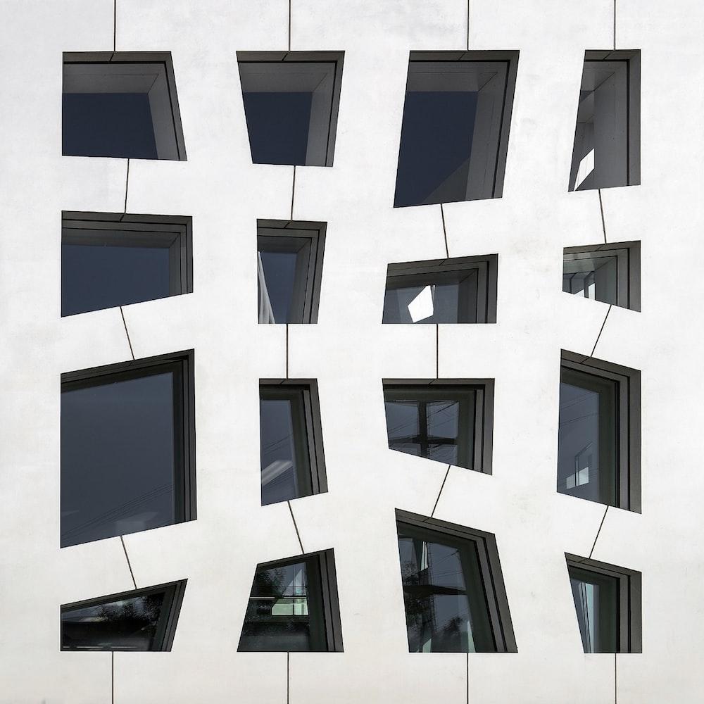 white window collage