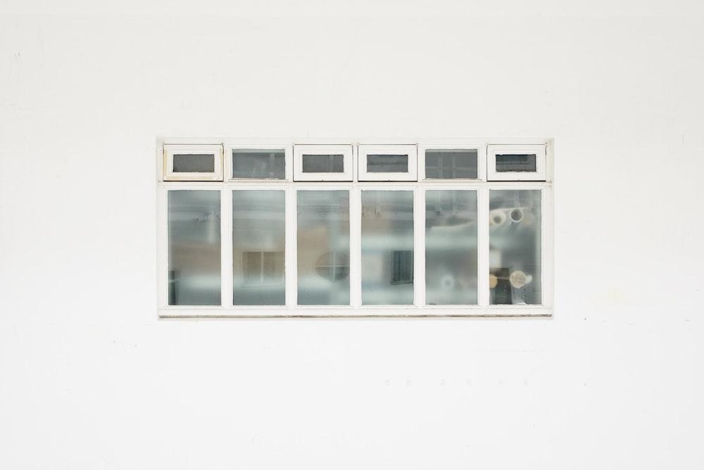 casement window against white background