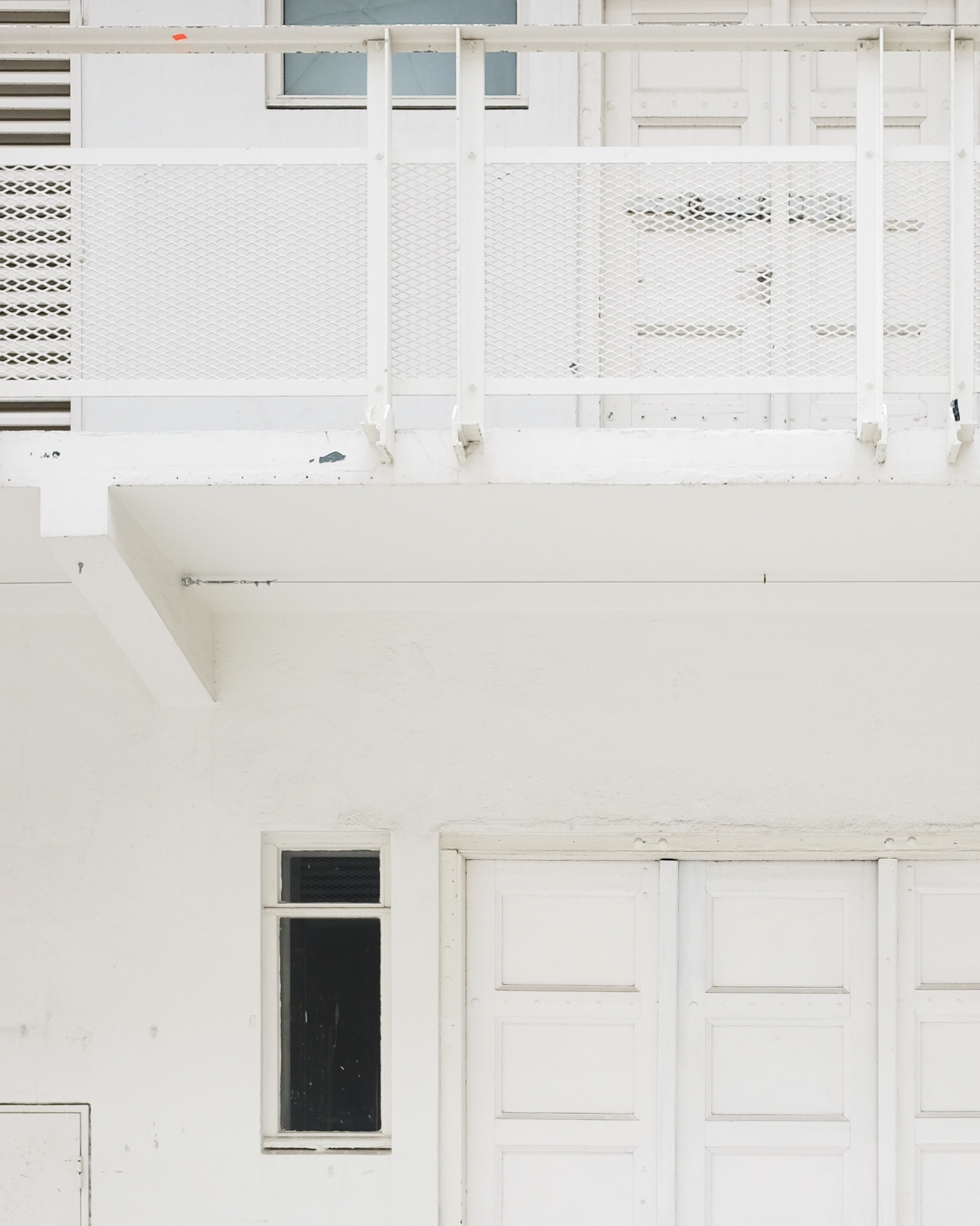 terrace near white door