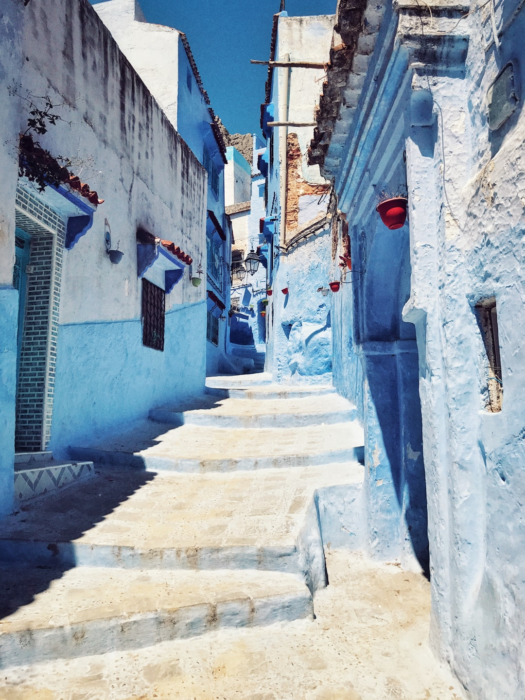 architectural structure photography of houses in Chefchaouen Morocco