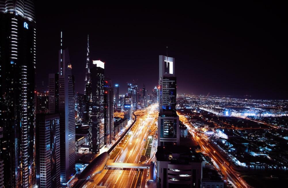 bird's eye view of high-rise buildings
