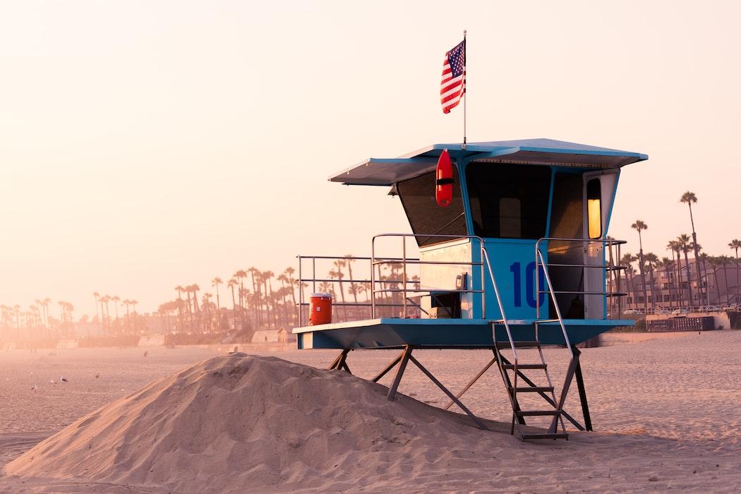 Summer beach in America