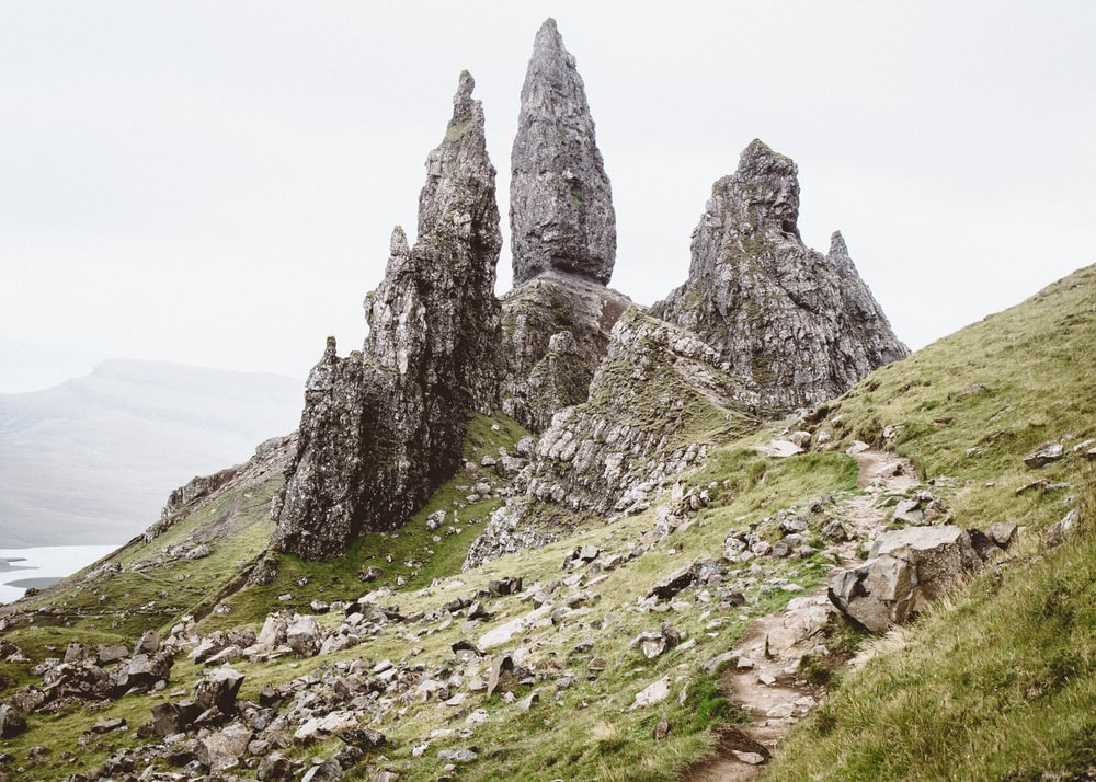 rock formations under cloudy sky during daytime