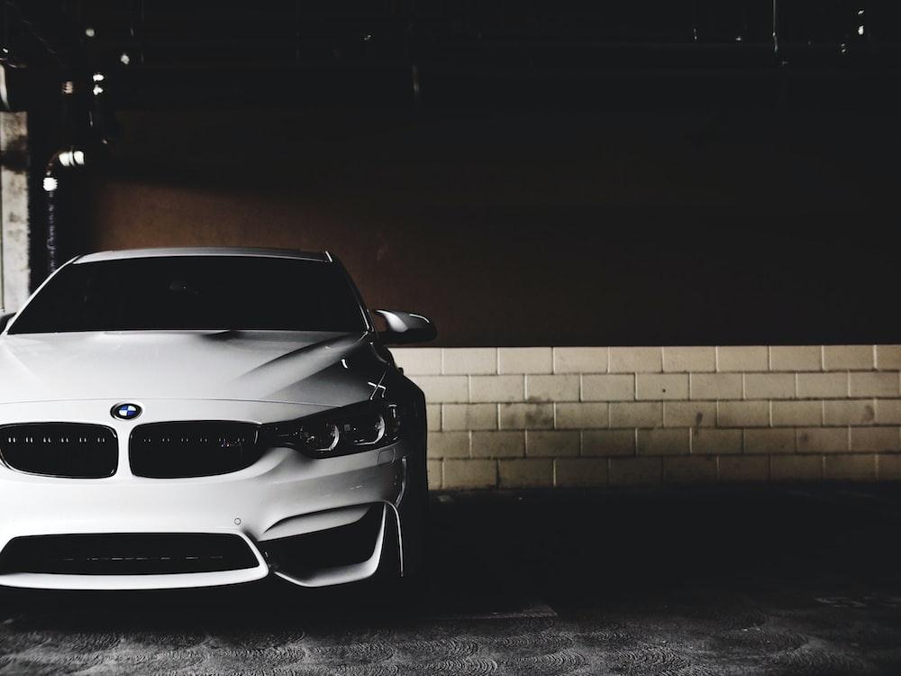 white BMW car