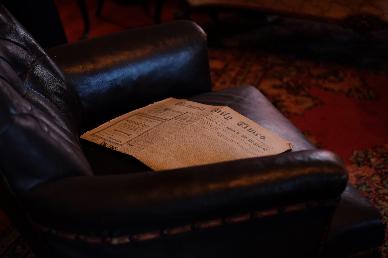 black leather sofa chair