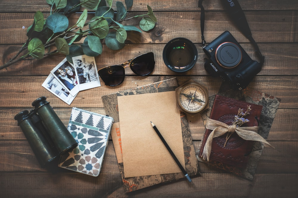 photo of assorted items on wooden table