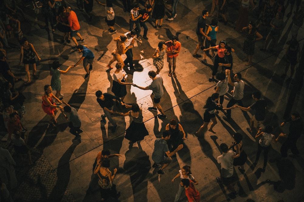 group of people dancing