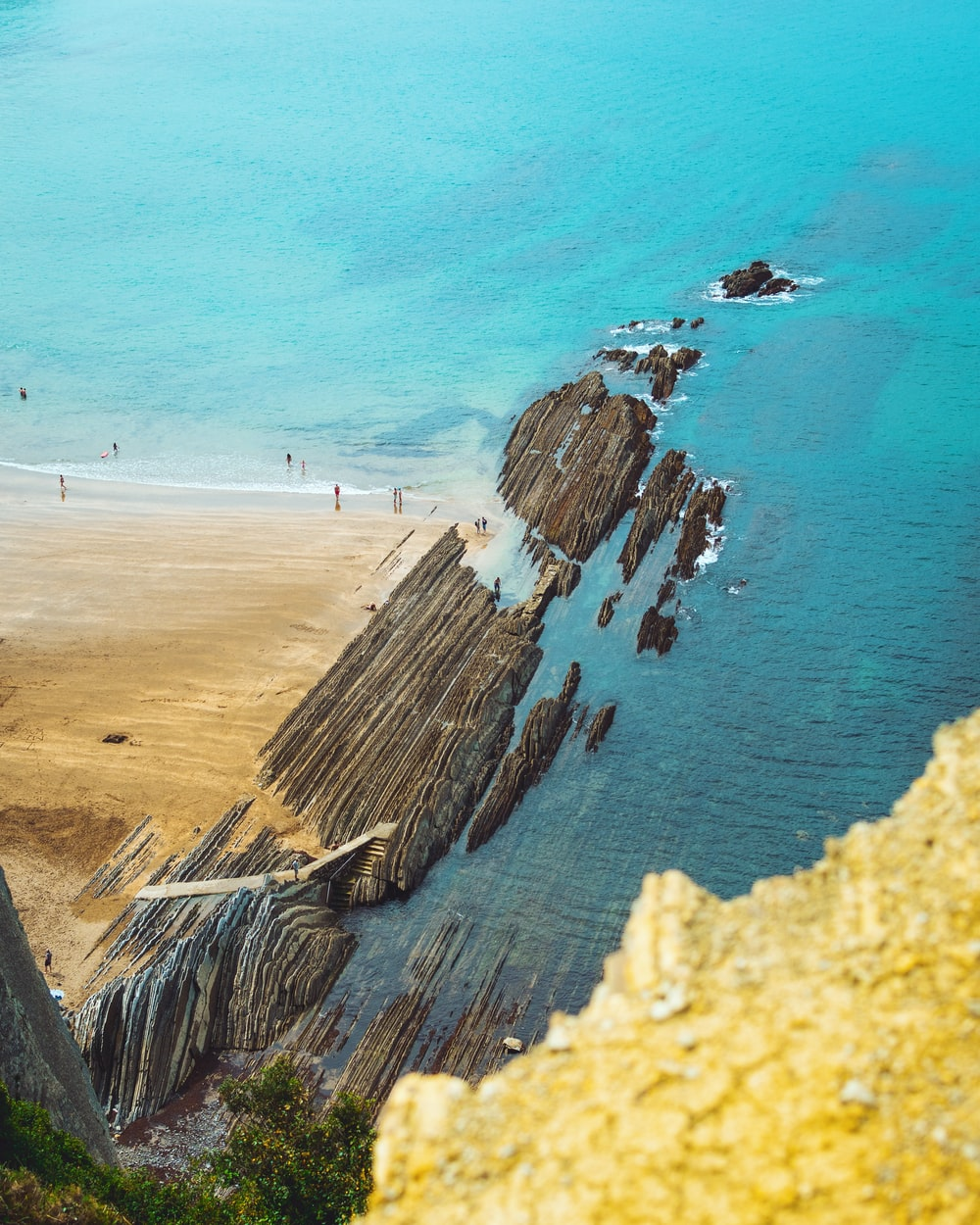 aerial view photography of ocean