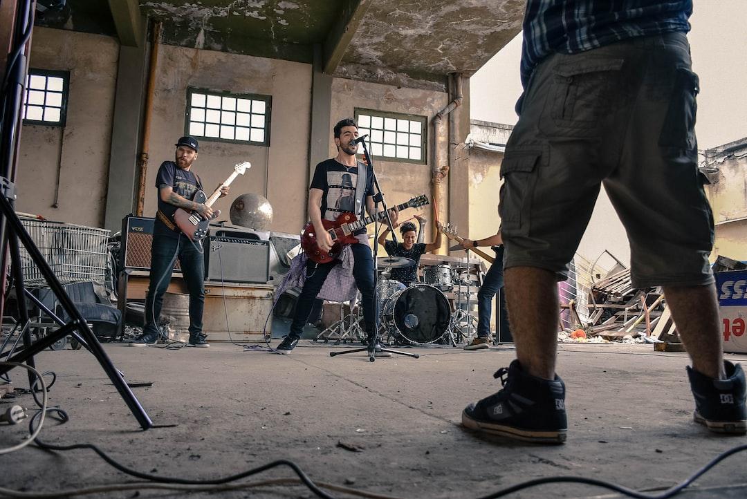 En la grabación de la Band Paper Rockets