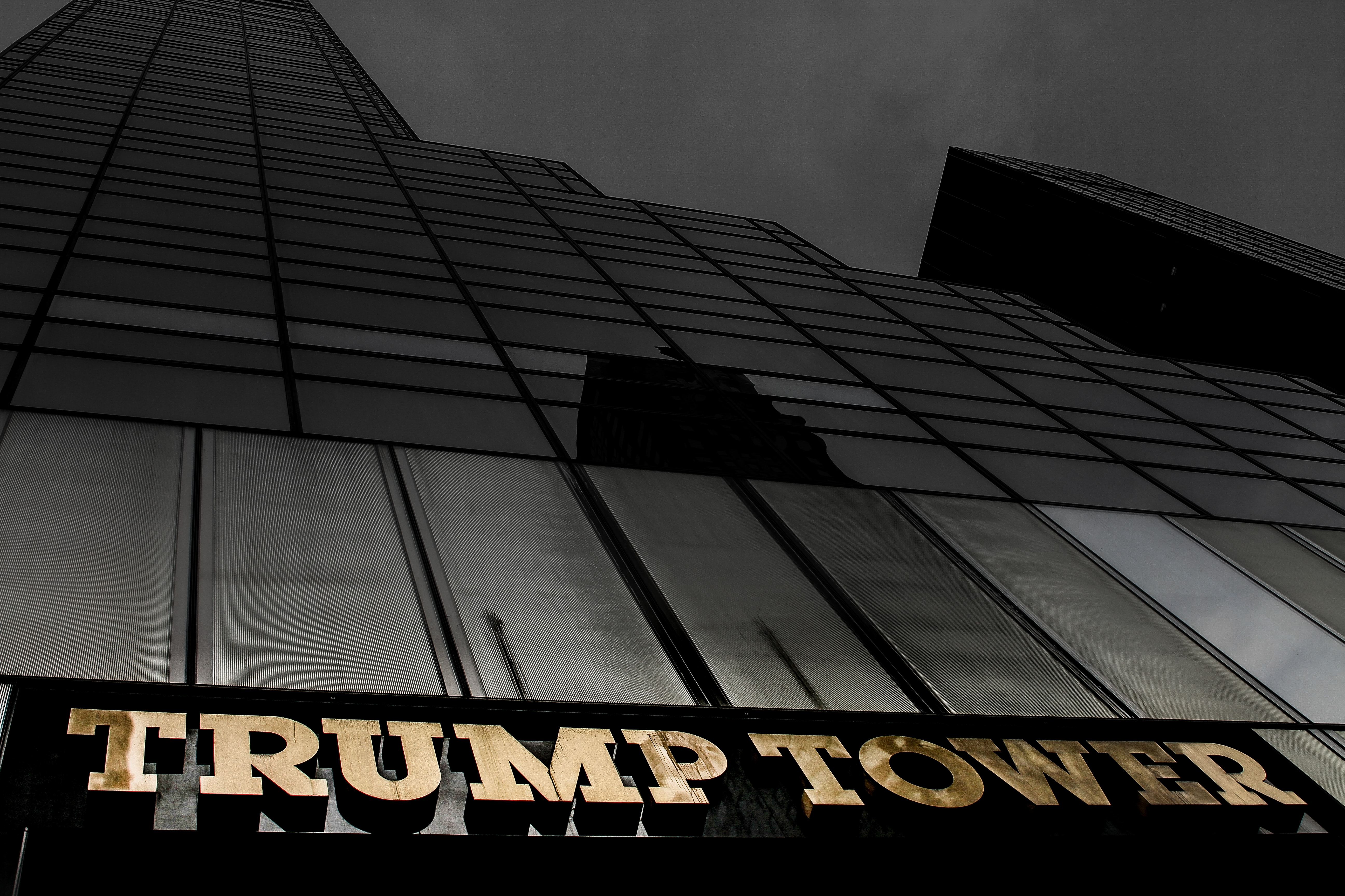 grayscale photo of Trump Tower