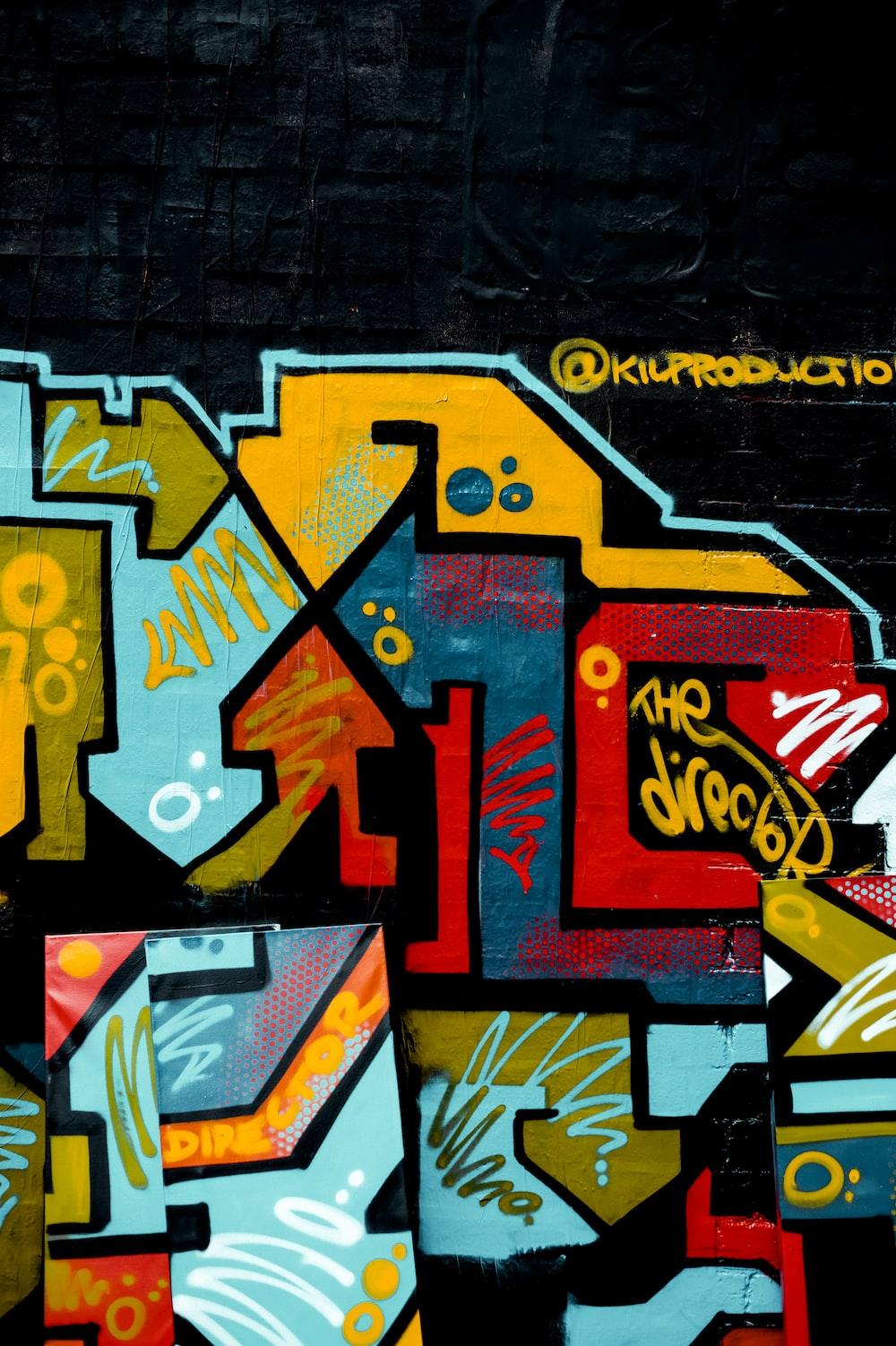 abstract graffiti painting