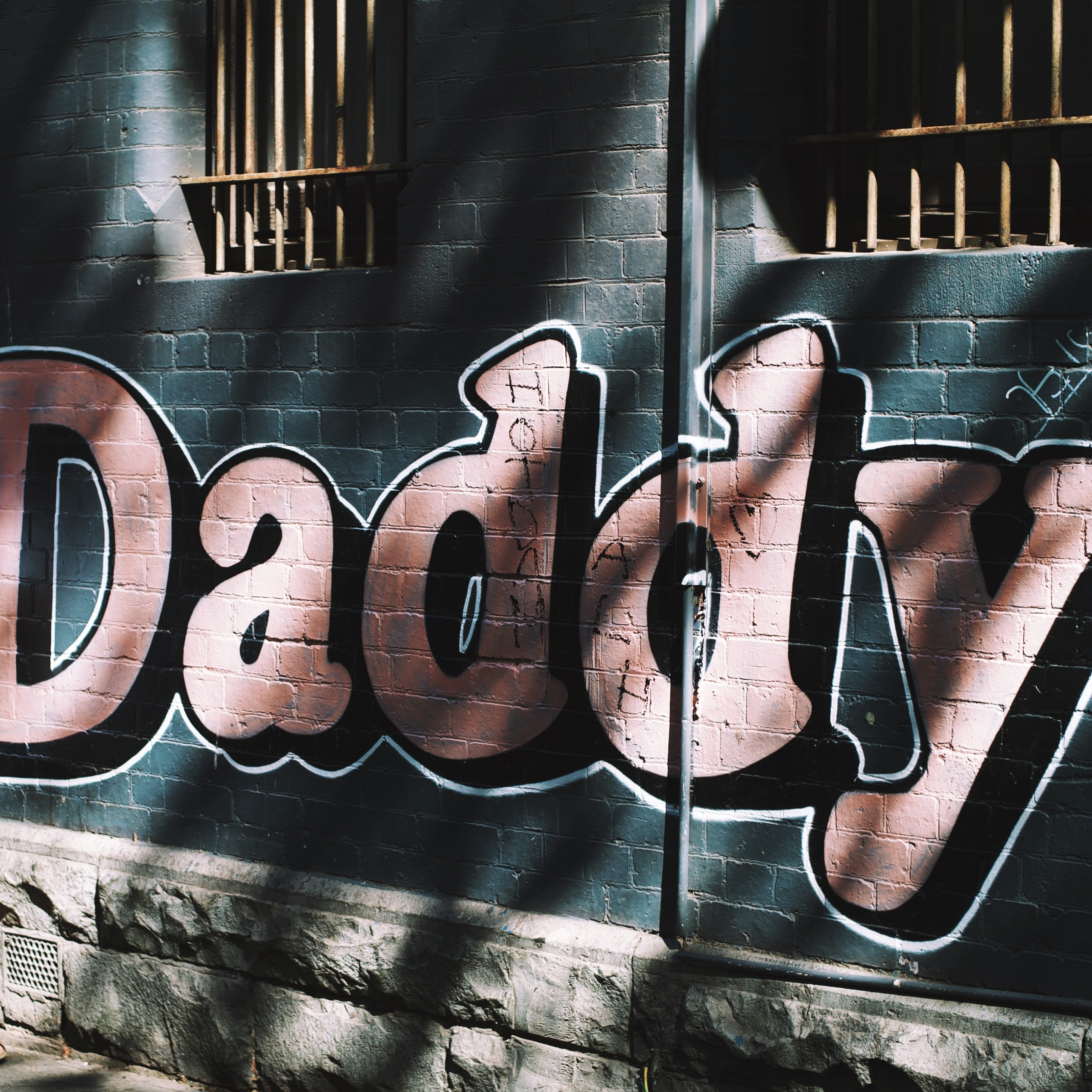 Daddy wall painted at daytime