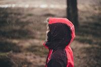 Child in rain
