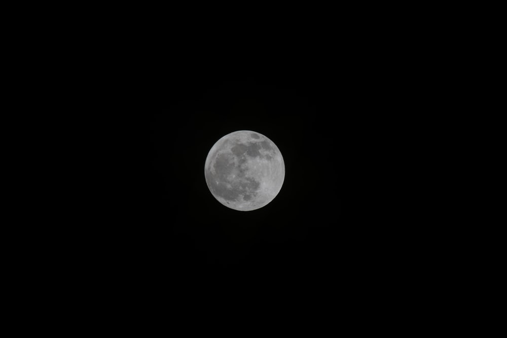 full moon at nighttime