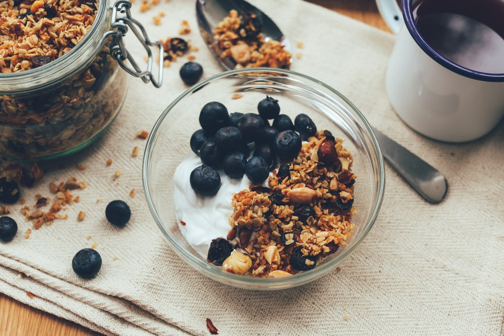 berry and nuts with ganja granola