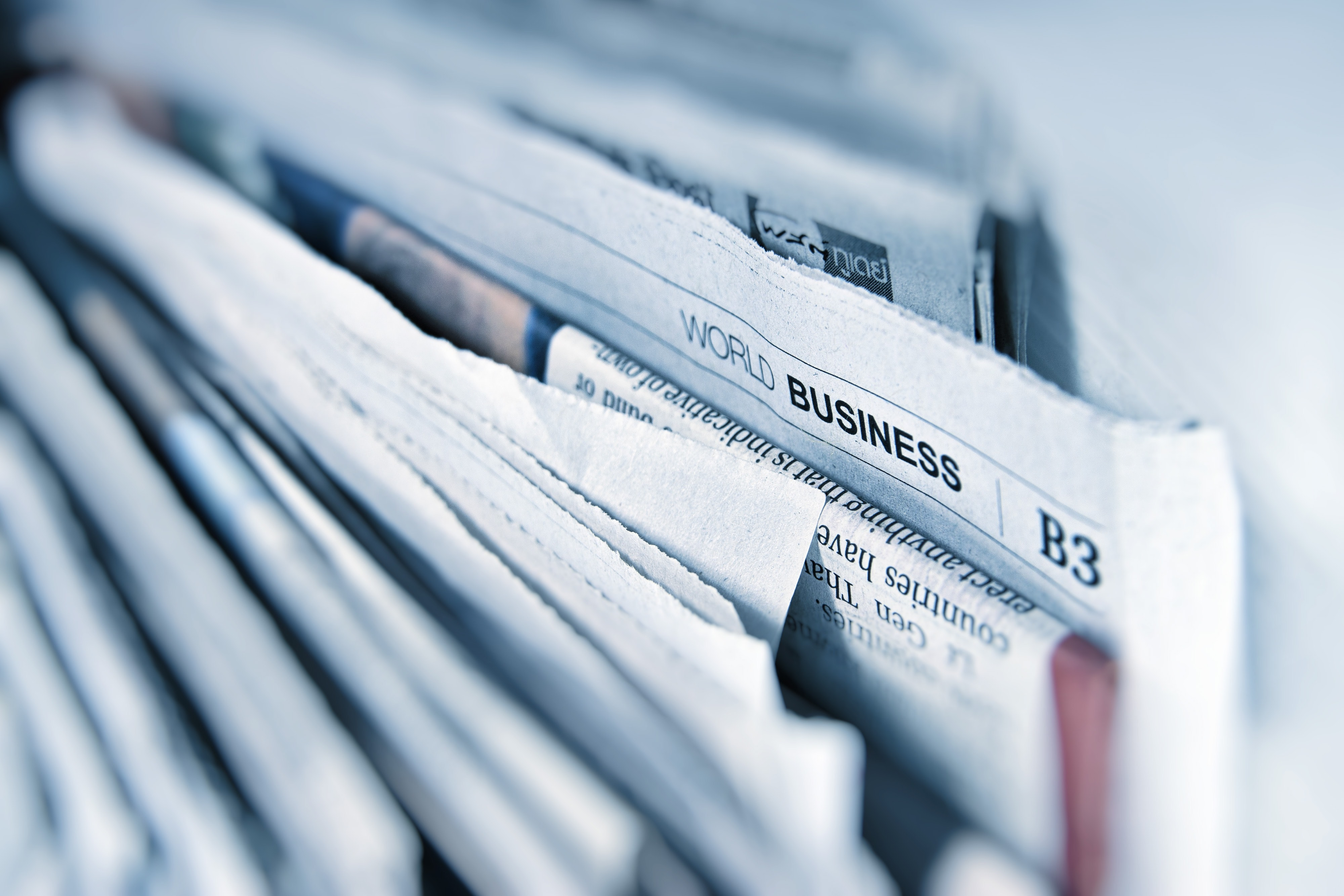 Business newspaper pages