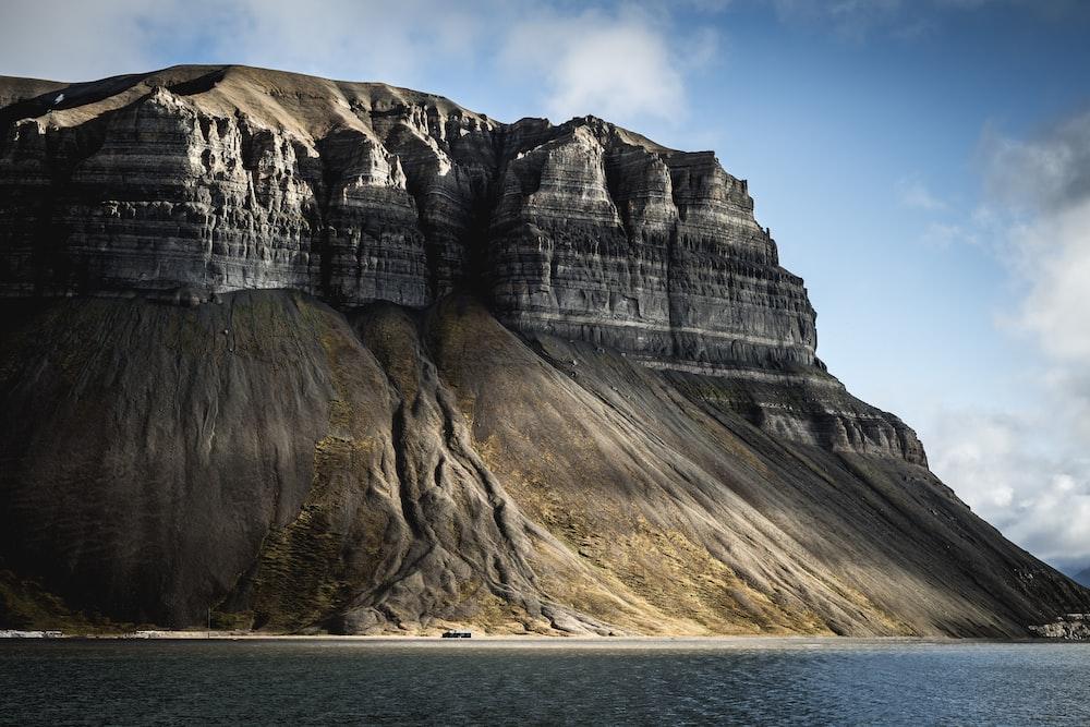 rock formation near ocean