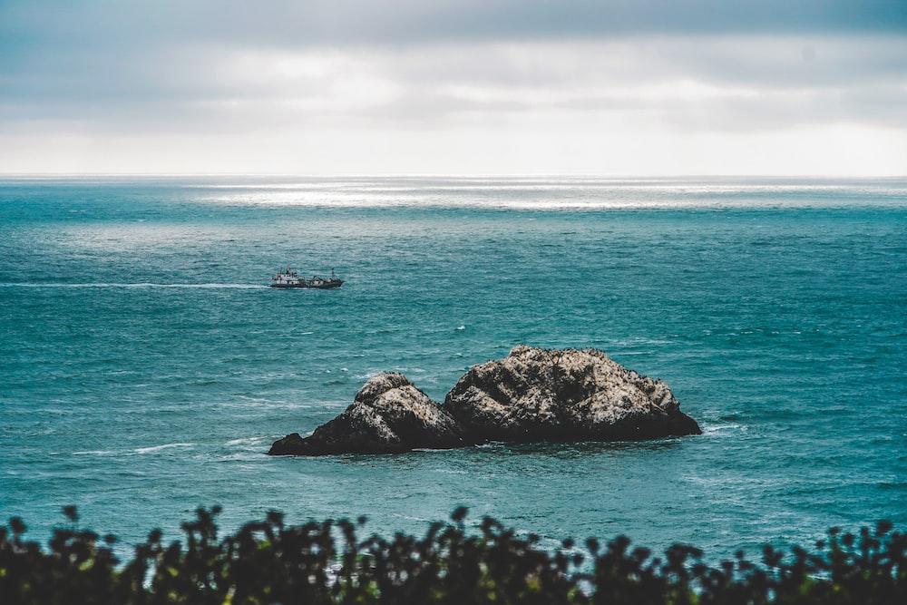 coastal rock at body of water